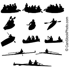 划船, 黑色半面畫像, 彙整