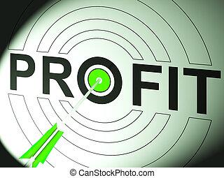 利潤, 貿易, 成功, 事務, 顯示