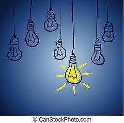 創新, lamp., 概念, 想法