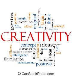 創造性, 概念, 詞, 雲