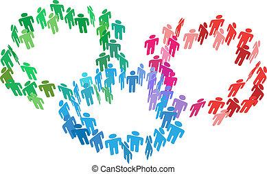 加入, 商業界人士, 合并, 組, 社會