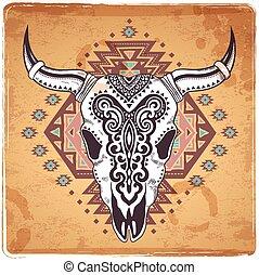 動物 頭骨, 部落, 插圖, 裝飾品, 种族