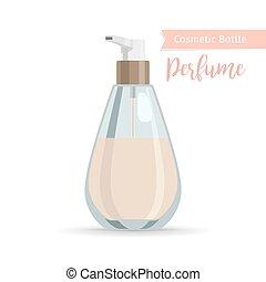 化妝品, 瓶子, 香水