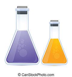 化學制品, 燒瓶, 上色