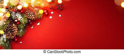 卡片, 假期, 聖誕節, 藝術, 紅色, background;, 問候