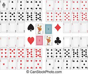 卡片, 玩