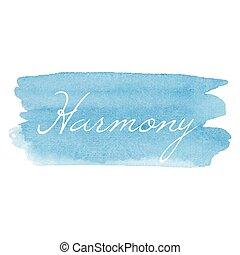 卡片, 矢量, 寫正文, 水彩, 圖象, 手, 畫, 書法, 協調, 背景, 插圖, 印刷術, 藍色