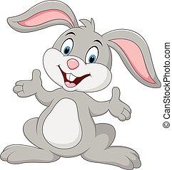 卡通, 兔子, 矯柔造作, 漂亮