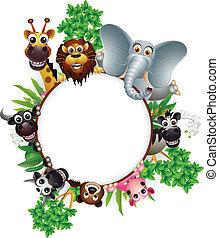 卡通, 動物, 彙整, 漂亮
