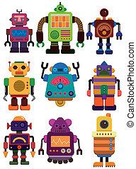 卡通, 圖象, 機器人, 顏色