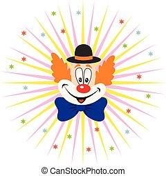 卡通, 小丑, 臉
