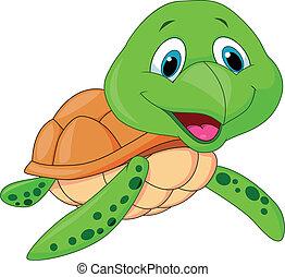 卡通, 海海龜, 漂亮