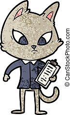 卡通, 混淆, 事務, 貓