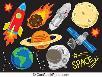 卡通, 空間