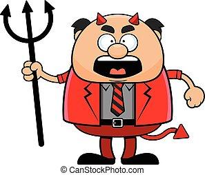 卡通, 老板, 憤怒, 魔鬼