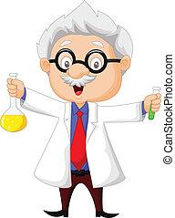 卡通, 藏品, 化學的科學家