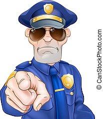 卡通, 警察