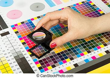 印刷品, 生產, 管理顏色
