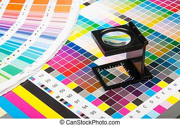 印刷品, 顏色, 管理, 生產