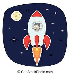 印第安語, 從事工商業的女性, 火箭, 月亮, 空間