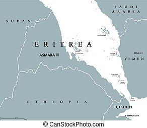 厄立特里亞, 政治, 地圖