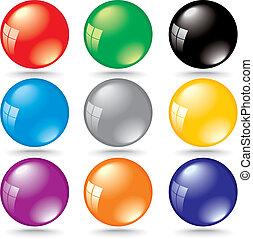 反映, 顏色, 窗口, 氣泡, 晴朗, 3d