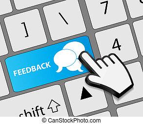 反饋, 按鈕, 插圖, 手, 游標, 矢量, 鍵盤, 老鼠