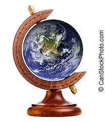 古董, 元素, 提供, 這, 圖像, 全球, 行星, nasa, 站, 地球