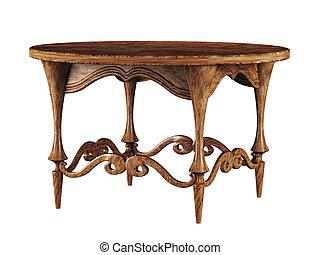 古董, 圓桌, 3d