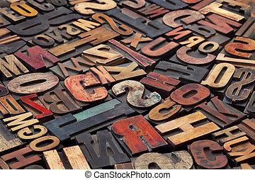 古董, 打印塊, letterpress
