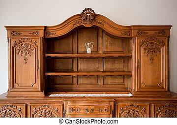 古董, 抽屜, 胸膛, 書架, 家具