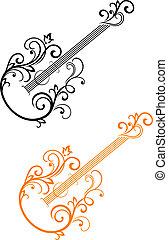 吉他, 花的要素