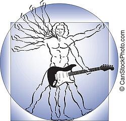 吉他, vitruvian 人