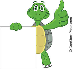 向上, 卡通, 海龜, 拇指