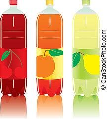 含二氧化碳, 瓶子, 飲料