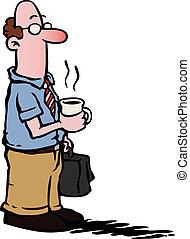咖啡, 事務, /, 雇員, 有, 人