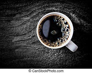 咖啡, 充分, 過濾器, 杯子, 烘烤, 新鮮