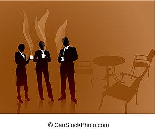 咖啡, 商業組, 毀坏, 背景, 網際網路