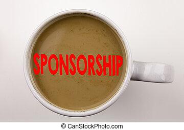 咖啡, 概念, 詞, 事務, cup., 詞, word., space., 發起, 黑色的雲, 背景, 正文, 寫, 白色, 模仿, 紅色