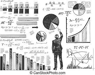 商人, 執行, 數据, 分析
