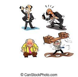 商人, 憤怒, 插圖