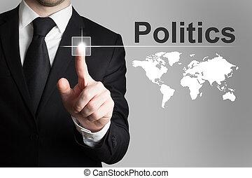 商人, 推的按鈕, 政治