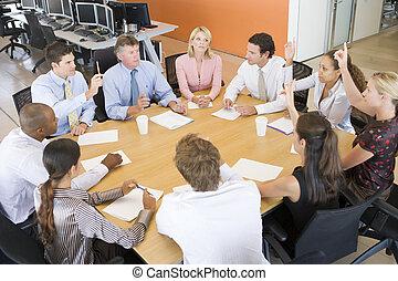 商人, 會議, 股票