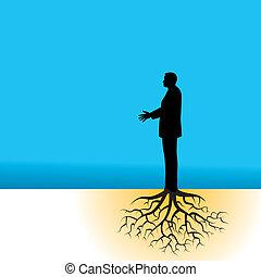 商人, 樹, 根