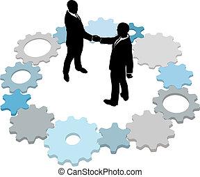 商務技術, 齒輪, 交易, 人們