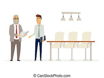 商務關系, 人們, 現代, -, 插圖, 字符, 卡通