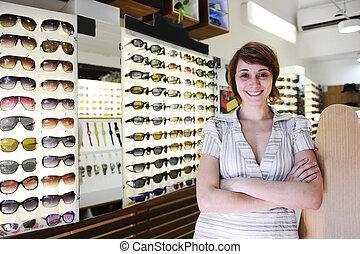 商店, 小, 所有者, 驕傲, business:, 太陽鏡