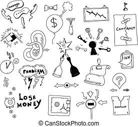 商業描述, 手, 興趣, 畫, 衝突