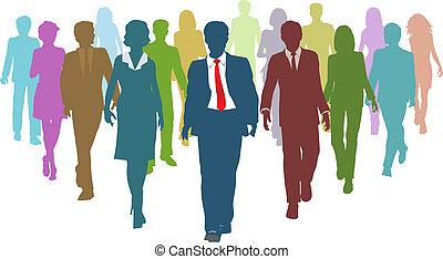 商業界人士, 多种多樣, 人類, 小組負責人, 資源