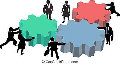商業界人士, 工作, 一起, 計劃, 技術